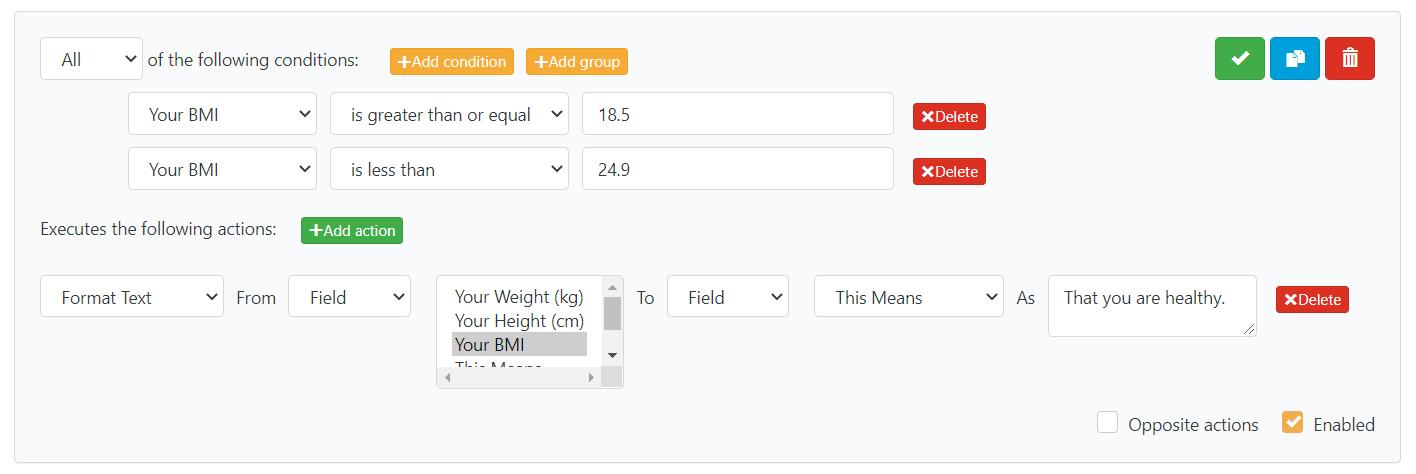 Building a BMI Calculator: Format Text