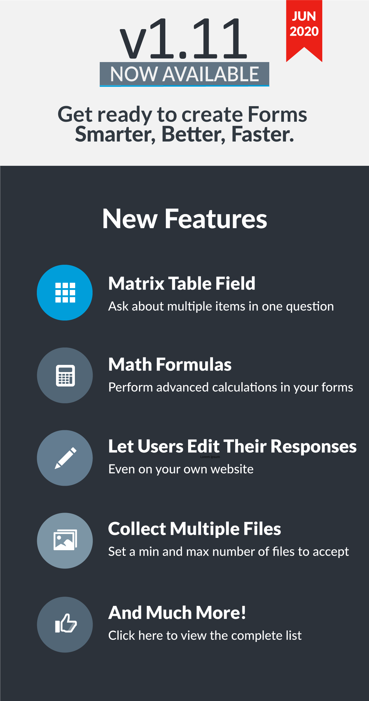 Easy Forms v1.11 has been released!