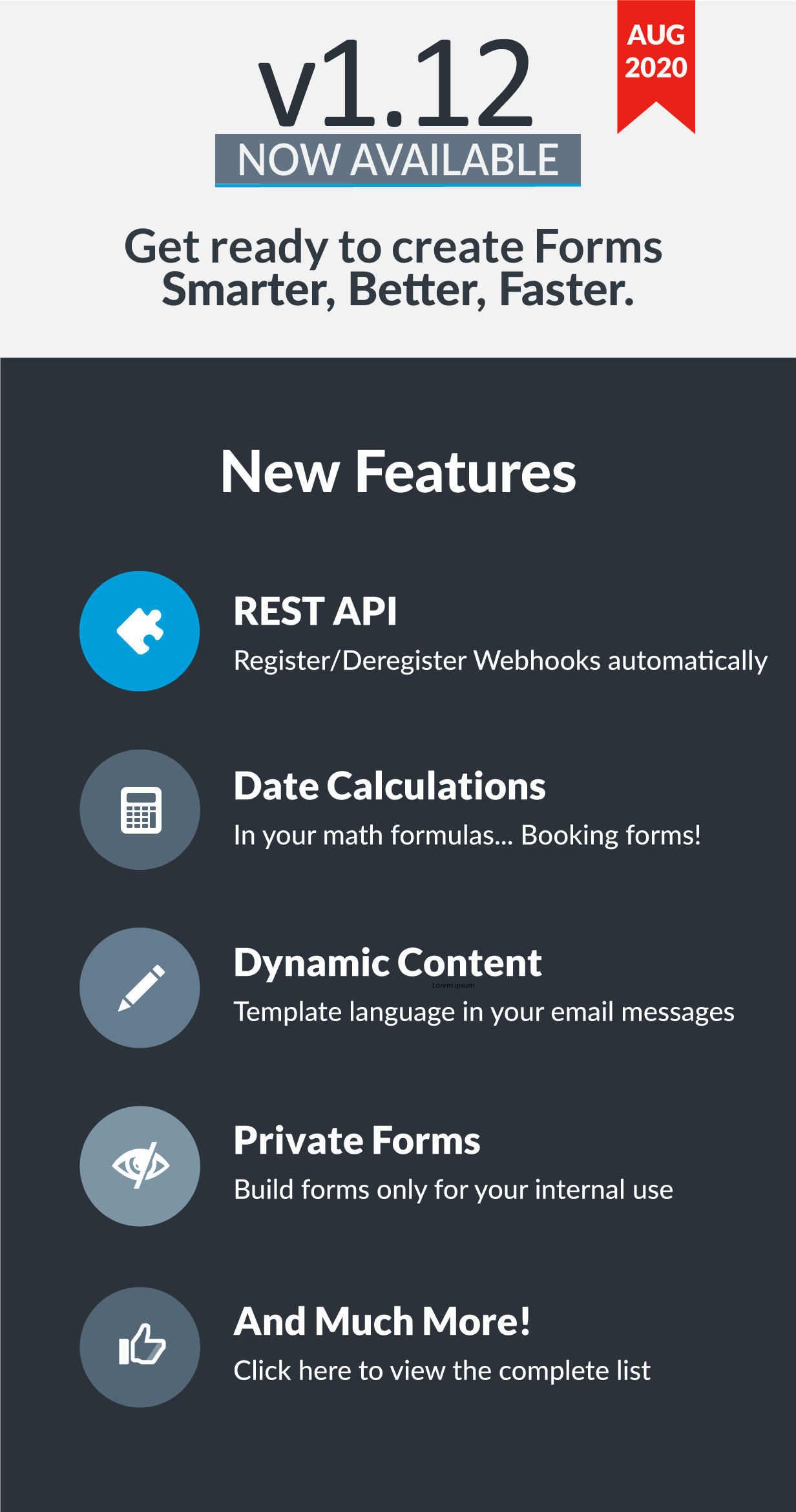 Easy Forms v1.12 has been released!