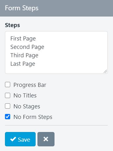 Form Builder - Progress Bar Settings
