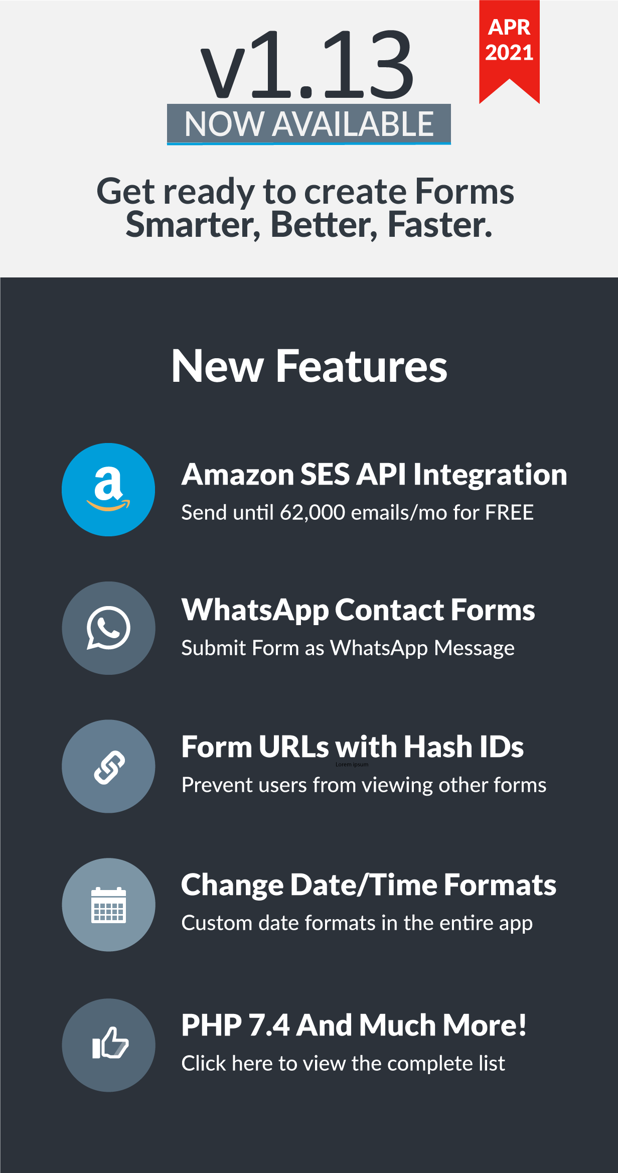 Easy Forms v1.13 has been released!