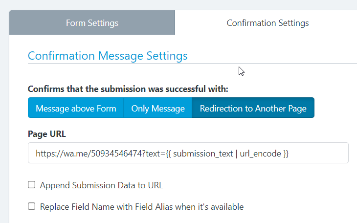 How to Send Information entered in Form to Whatsapp